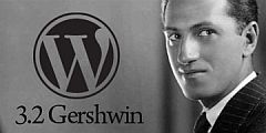 WordPress 3.2 George Gershwin